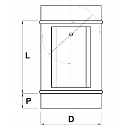 Regulačná klapka s prípravou na servo