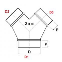 "Spiro tvar ""Y"" 45°"